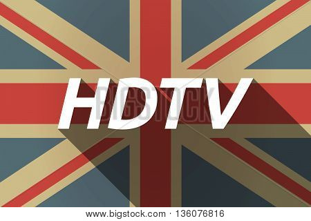 Long Shadow Uk Flag With    The Text Hdtv