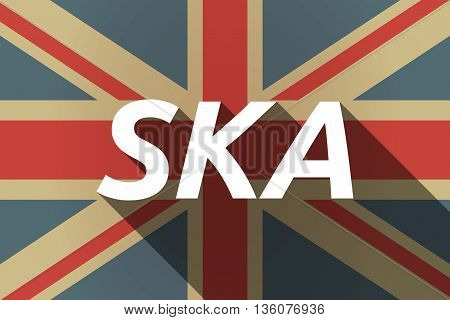 Long Shadow Uk Flag With    The Text Ska
