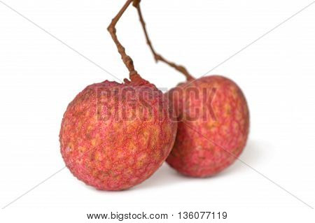 Lychee fruit, Litchi chinensis, Family Sapindaceae, Thailand