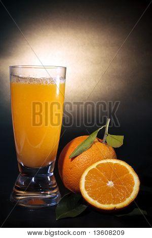 Orange Juice Art Background