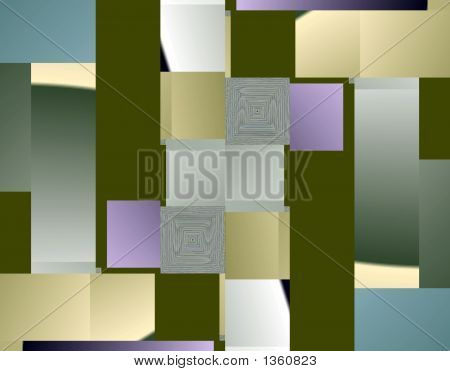 high tech abstract fractal art with dynamic geometrical shapes and pulsing color influence . poster