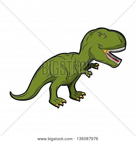 Dinosaur Tyrannosaurus Rex. Prehistoric Reptile. Ancient Predator. Animal Jurassic With Big Teeth. A