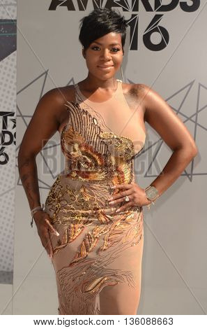 LOS ANGELES - JUN 26:  Fantasia Barrino at the BET Awards Arrivals at the Microsoft Theater on June 26, 2016 in Los Angeles, CA