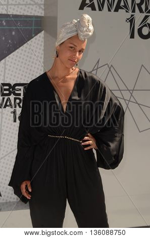 LOS ANGELES - JUN 26:  Alicia Keys at the BET Awards Arrivals at the Microsoft Theater on June 26, 2016 in Los Angeles, CA