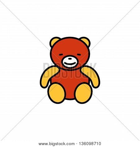 Teddy bear. Childrens toy, soft toy, bear toy. Toy concept. Can be used for topics like toy, present, animal
