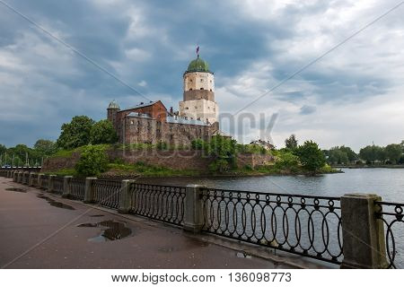 Vyborg white castle was founded by the Swedes in 1293, during the Third crusade to the Karelian land, an ally of Novgorod the Great. Old historical building under UNESCO protection.