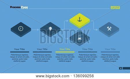 Block scheme diagram. Presentation slide. Element of diagram, presentation, flowchart. Concept for presentation, infographics, templates. Can be used for topics like strategy, development, analytics