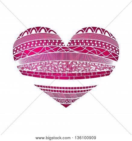 Heart isolated on white background. Doodling. Vector illustration eps10