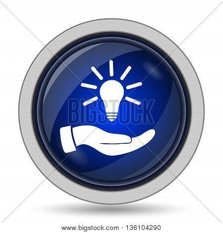 Hand Holding Lightbulb.idea Icon