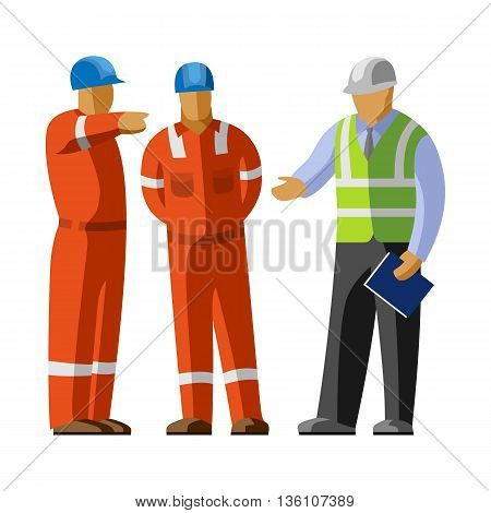 Construction Workers Group And Manager