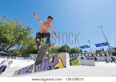 Daniel Ferreira During The Dc Skate Challenge