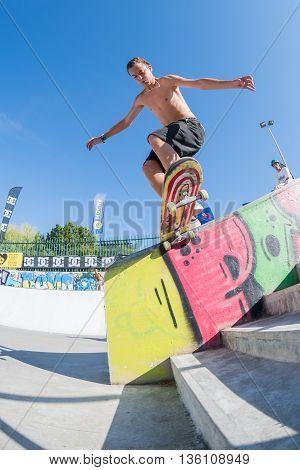 Gabriel Ribeiro During The Dc Skate Challenge