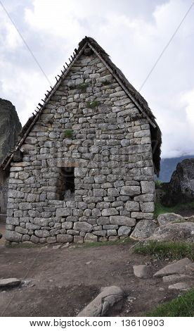 Lopsided Stone House with One Window