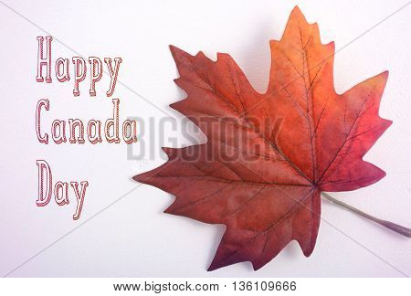 Canada Day Maple Leaf With Handdrawn Text