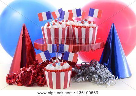 Happy Bastille Day Cupcakes.