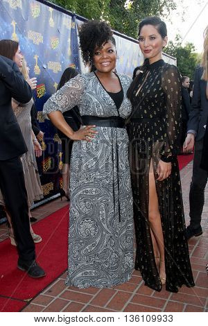 Yvette Nicole Brown and Olivia Munn at the 42nd Annual Saturn Awards on Wednesday, June 22, 2016 at the Castaway Restaurant in Burbank, CA.