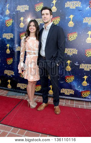 Drew Roy and guest arrive at the 42nd Annual Saturn Awards on Wednesday, June 22, 2016 at the Castaway Restaurant in Burbank, CA.