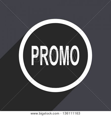 Promo flat design web vector icon