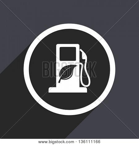 Bio fuel flat design web vector icon