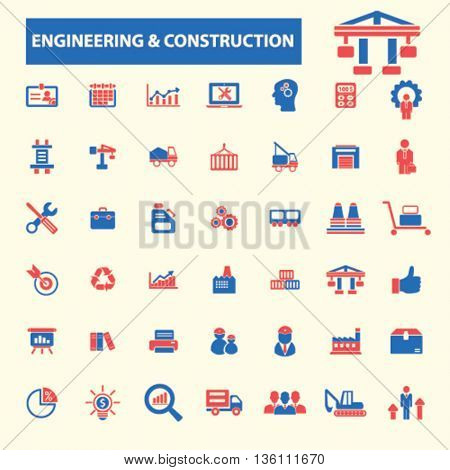 engineering construction icons