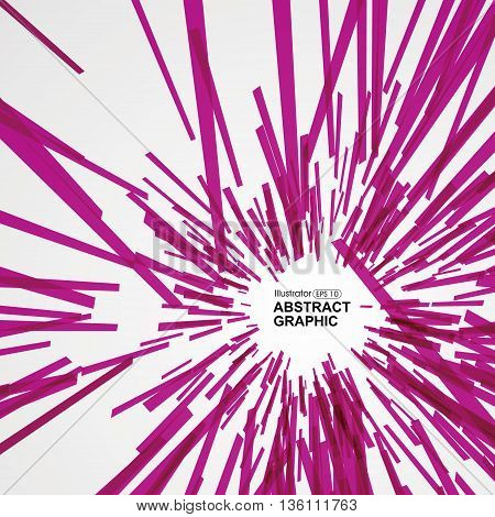 Abstract radial background,Pink lines composition, Vector illustration.