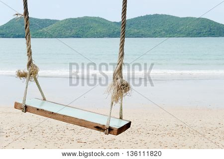 image of Swing on a Beach background