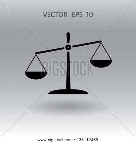 Flat  icon of Justice