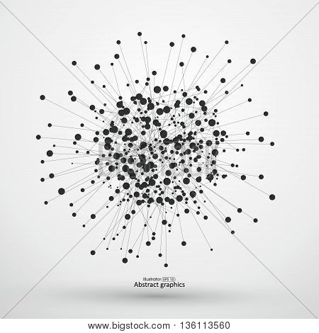 Dot and line consisting of abstract graphics.