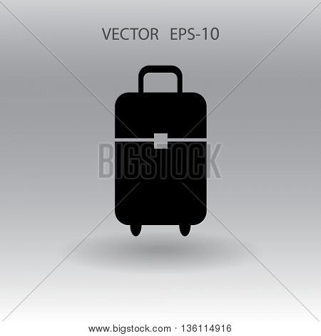 Flat icon of bag