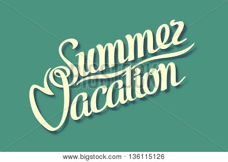 Summer Vacation Retro comics. Green. Vector illustration