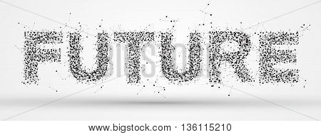 """Future"" font design,Of points and lines,Internet technology."