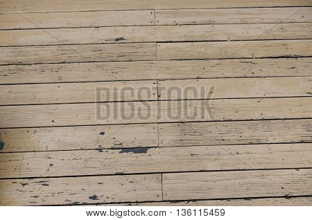 A painted wooden deck on a cabin in Colorado.