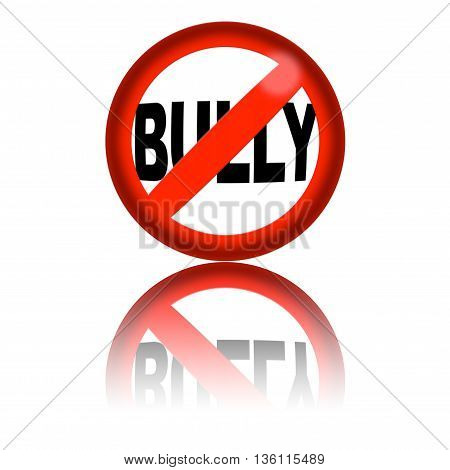 No Sign Bully 3D Rendering