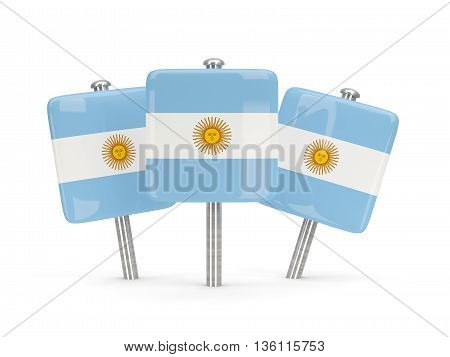 Flag Of Argentina, Three Square Pins