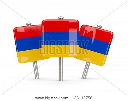 Flag Of Armenia, Three Square Pins