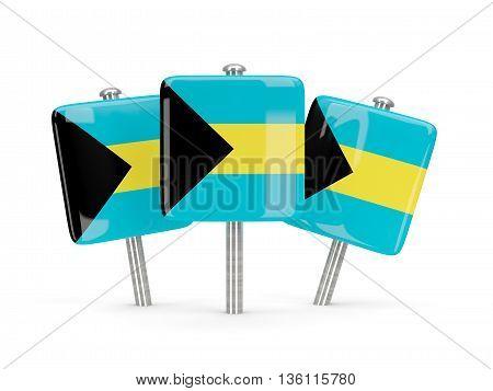 Flag Of Bahamas, Three Square Pins