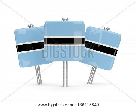 Flag Of Botswana, Three Square Pins