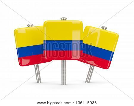 Flag Of Colombia, Three Square Pins