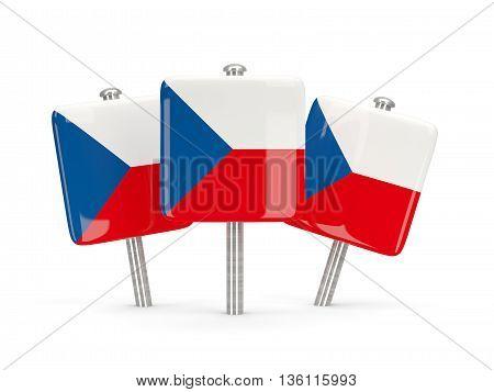 Flag Of Czech Republic, Three Square Pins
