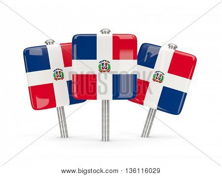 Flag Of Dominican Republic, Three Square Pins