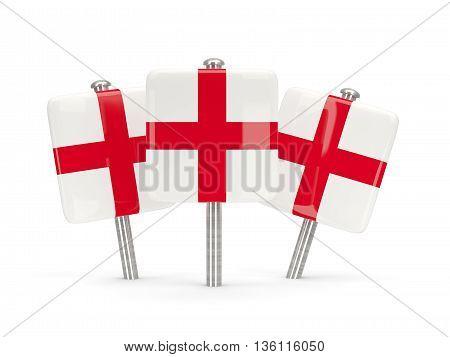 Flag Of England, Three Square Pins