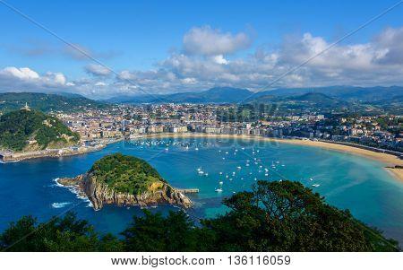 San Sebastian in the Basque Country, Spain