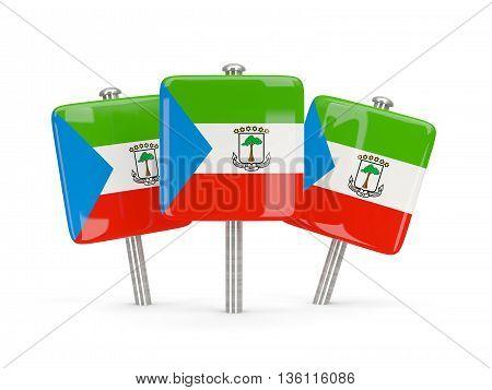 Flag Of Equatorial Guinea, Three Square Pins