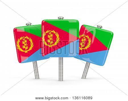 Flag Of Eritrea, Three Square Pins