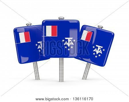 Flag Of French Southern Territories, Three Square Pins