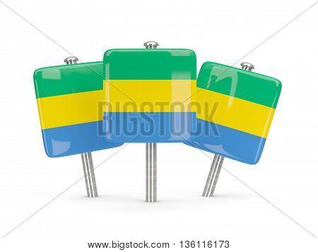 Flag Of Gabon, Three Square Pins