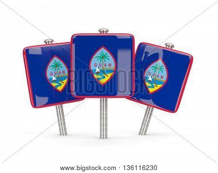 Flag Of Guam, Three Square Pins