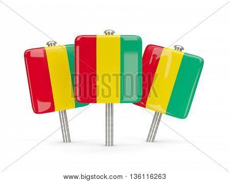 Flag Of Guinea, Three Square Pins