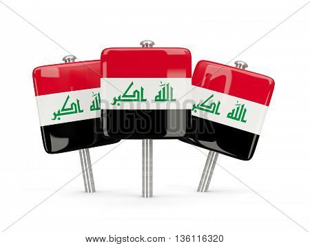 Flag Of Iraq, Three Square Pins