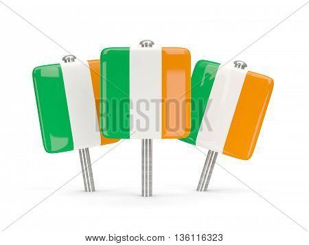 Flag Of Ireland, Three Square Pins
